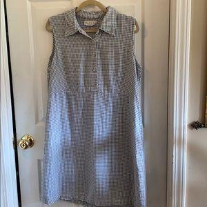 Match Brand 12 checked linen dress